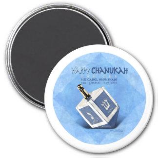 Chanukah Dreidel 3 Inch Round Magnet