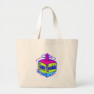 Chanukah Dreidel Canvas Bags