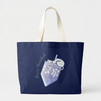 Chanukah Dreidel Cat (customizable) Tote Bag