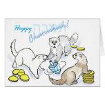 Chanukah dreidel ferrets greeting cards