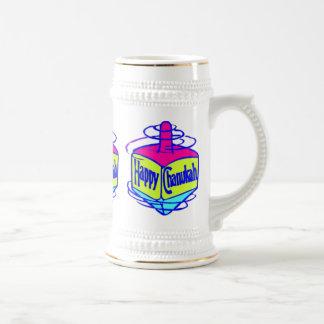 Chanukah Dreidel Jarra De Cerveza