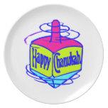 Chanukah Dreidel Party Plate