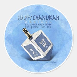 Chanukah Dreidel Classic Round Sticker