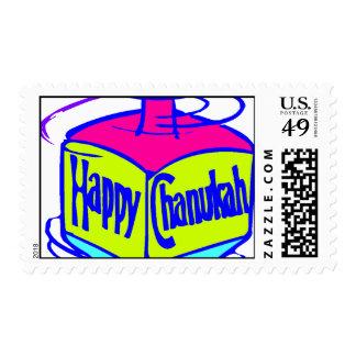 Chanukah Dreidel Timbres Postales