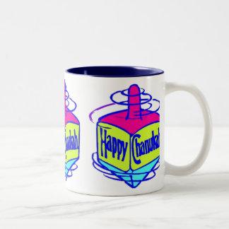Chanukah Dreidel Two-Tone Coffee Mug