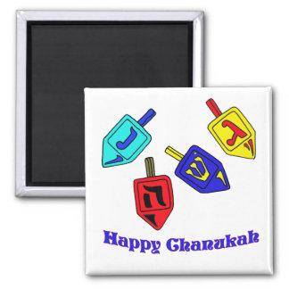 Chanukah Dreidels 2 Inch Square Magnet