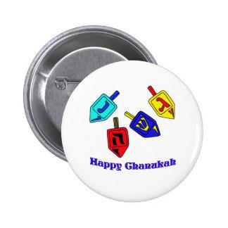 Chanukah Dreidels 2 Inch Round Button