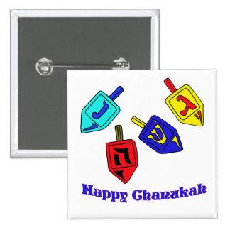 Chanukah Dreidels 2 Inch Square Button