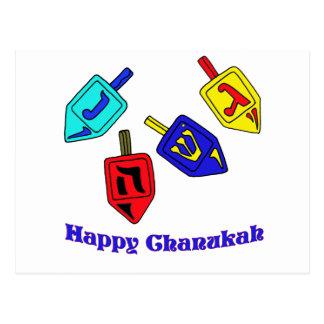 Chanukah Dreidels Postcard