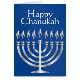 Chanukah feliz - Menorah en la plata 2 - tarjeta