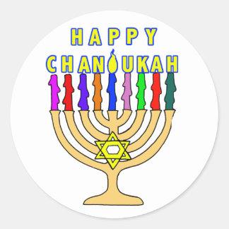 Chanukah feliz Menorah enciende a los pegatinas