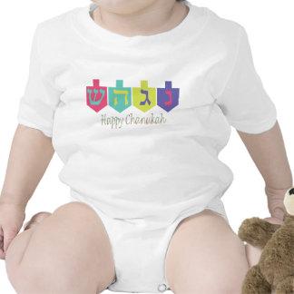 Chanukah feliz trajes de bebé