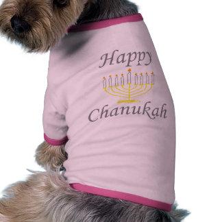Chanukah feliz ropa perro