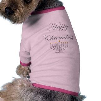 Chanukah feliz camisa de mascota