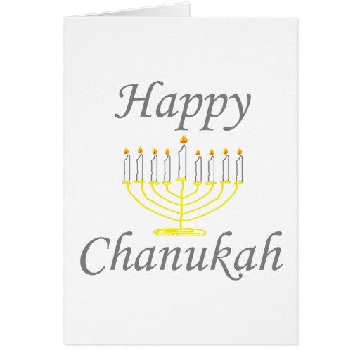 Chanukah feliz tarjeta de felicitación