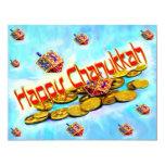 Chanukah Flying Dreidels Invite