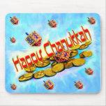Chanukah Flying Dreidels Mouse Pads