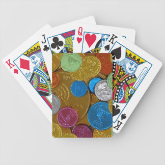 Chanukah Gelt Bicycle Playing Cards