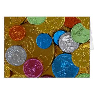 Chanukah Gelt Greeting Card