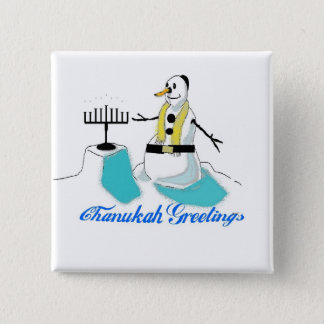 Chanukah Greetings Pinback Button
