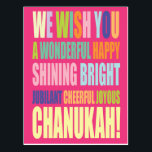 "Chanukah/Hannukah Greeting Postcard<br><div class=""desc"">Customize and Personalize Chanukah Greeting Card</div>"