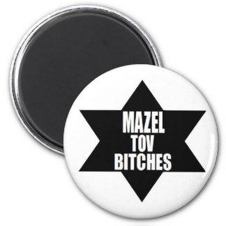 chanukah hanukah gift Mazel Tov Beeotches 2 Inch Round Magnet