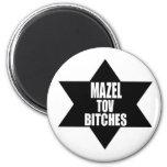 chanukah hanukah gift Mazel Tov Beeotches Magnet
