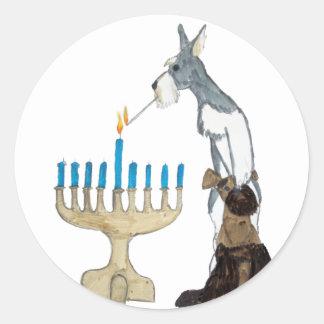 chanukah ( Hanukkah ) card Classic Round Sticker