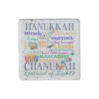 Chanukah-Hanukkah Collage Stone Magnet