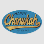 """Chanukah/Hanukkah Retro Stickers OVAL<br><div class=""""desc"""">Chanukah/Hanukkah Retro Stickers OVAL. &quot;Retro Happy Chanukah EST 139 BCE&quot; I spell it, Chanukah is one of my favorite holidays. Have fun using these stickers as cake toppers, gift tags, favor bag closures, or whatever rocks your festivities! Personalize by deleting, &quot;Happy&quot; and &quot;Est 139 BCE&quot; and replacing with your own...</div>"""
