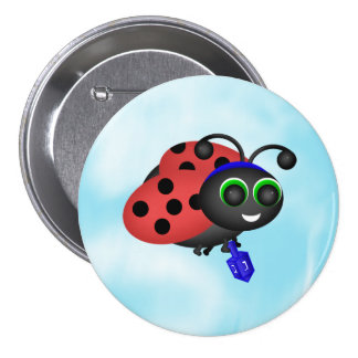 Chanukah Ladybug Button
