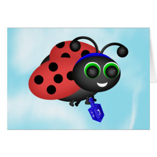 Chanukah Ladybug Card