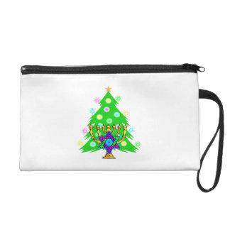 Chanukah Menorah Christmas Tree Wristlets