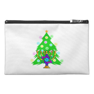 Chanukah Menorah Christmas Tree Travel Accessory Bags