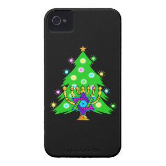 Chanukah Menorah Christmas Tree iPhone 4 Cover