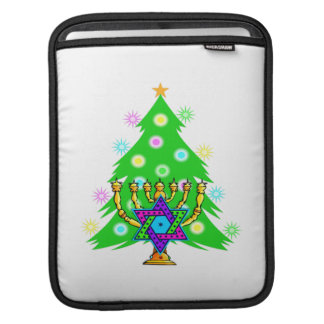 Chanukah Menorah Christmas Tree Sleeve For iPads