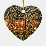 Chanukah Menorah con las luces del aceite Ornamente De Reyes