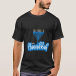 "Chanukah Menorah Lights T-Shirt<br><div class=""desc"">A bright Chanukah menorah with the words Happy Chanukah for the candles welcomes the holiday.</div>"