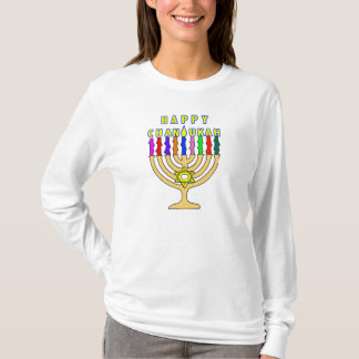 Chanukah Menorah Lights T-Shirt
