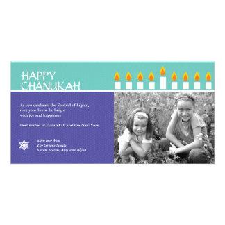 Chanukah Menorah Photo Card