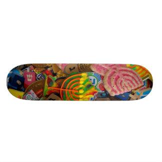 Chanukah Menorahs, Dreidels, Gelt Skate Deck