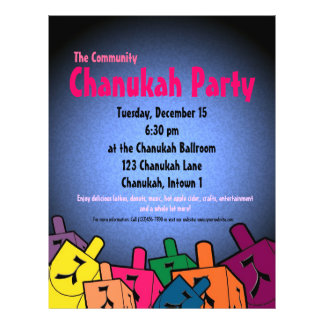 Chanukah Party Flyer