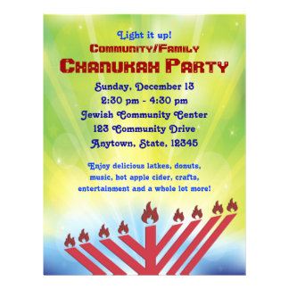 Chanukah Party Flyer