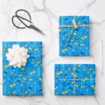 """Chanukah Streamers Hanukkah Dreidels Banners Wrapping Paper Sheets<br><div class=""""desc"""">Sometimes you just have a few items to wrap for Chanukah, and you don't want to buy a huge roll of Chanukah wrapping paper that will linger in your closet for years. This selection of three Chanukah wrapping paper sheets is perfect for wrapping a few gifts. Three separate sheets of...</div>"""
