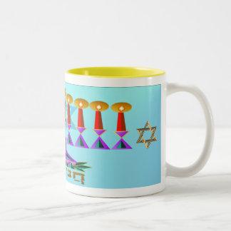 Chanukah Taza De Café De Dos Colores