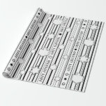 "Chanukah Wrapping Paper Black N White<br><div class=""desc"">Chanukah Wrapping Paper ""Black and White"" Let"