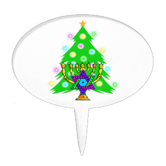 Chanukkah and Christmas Cake Topper