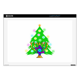"Chanukkah and Christmas Decal For 17"" Laptop"