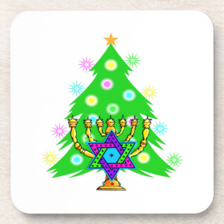 Chanukkah and Christmas Drink Coaster