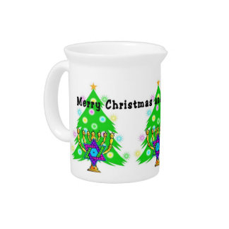 Chanukkah and Christmas Drink Pitcher